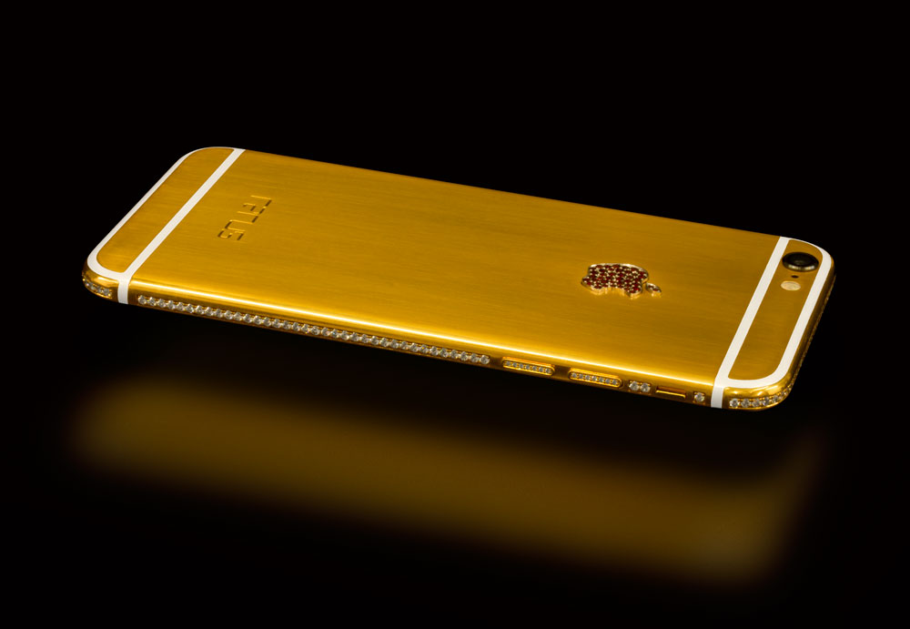 reputable site 1321b 189a8 24 carat gold, rose gold and silver rhodium iPhone 6 with Bohemian ...