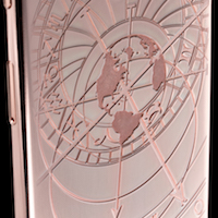 24 carat rose gold iPhone 6 with Czech Astronomical Clock