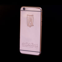 24 carat rose gold iPhone 6s with handmade engraving