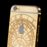 24 carat gold iPhone 6 with Czech Astronomical Clock theme