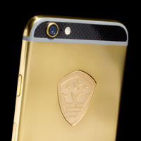 l24K Gold iPhone 6 with carbon
